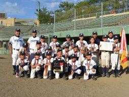 第14回JA共済学童野球大会にて優勝した払戸小野球スポーツ少年団