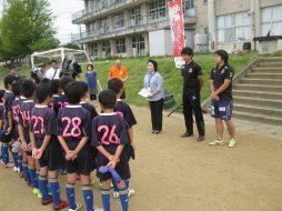 サッカー教室の様子(伊達市)
