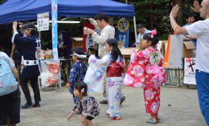 盆踊りの様子。大崎八幡宮(仙台市)会場にて