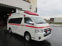 寄贈された高規格救急車